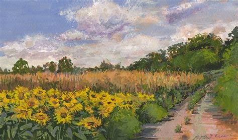 sunflower patch the art of kristie f cecil