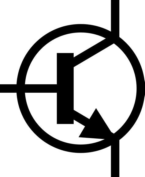 transistor npn simbol clipart iec npn transistor symbol