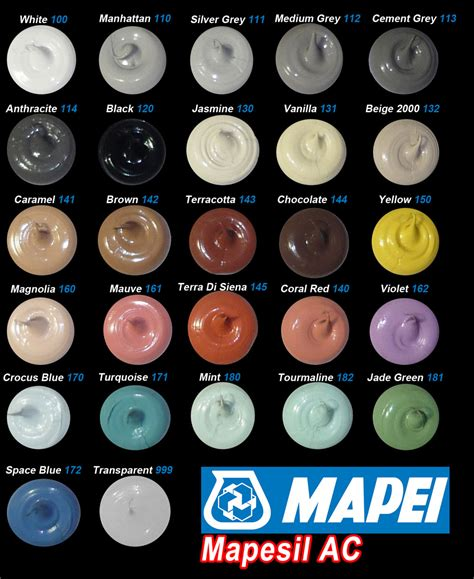 what color is silicon hundreds of coloured sealants mastic in stock in