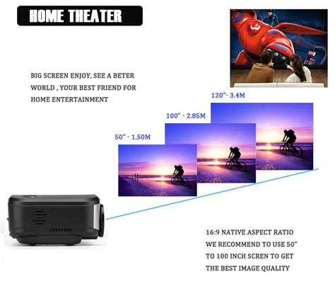 Lu Motor Led Projector jual led projector cheerlux c6 1200 lumens antena tv tuner