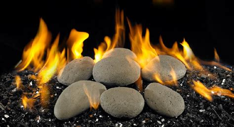 Gas Fireplace Inserts Glass Rocks by Burbank Fireplace Bbq Gas Logs Stones River Rock