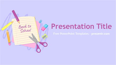 free back to school powerpoint template prezentr