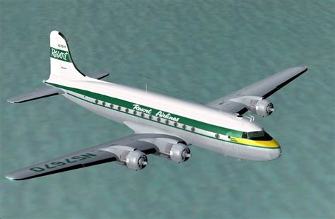 resort douglas resort airlines douglas c 54a n57670 for fsx