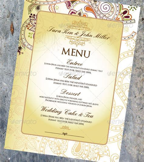 psd menu template wedding menu template 31 in pdf psd word
