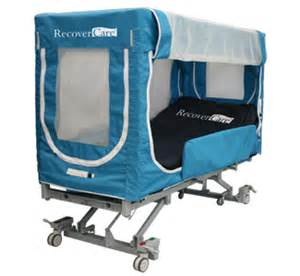 rc safe enclosure bed recovercare safe patient handling