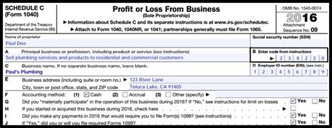 how to complete schedule c profit and loss from a business