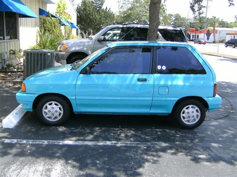 curbside outtake 1992 ford festiva is it classic worthy i say yes i saw a little aqua one