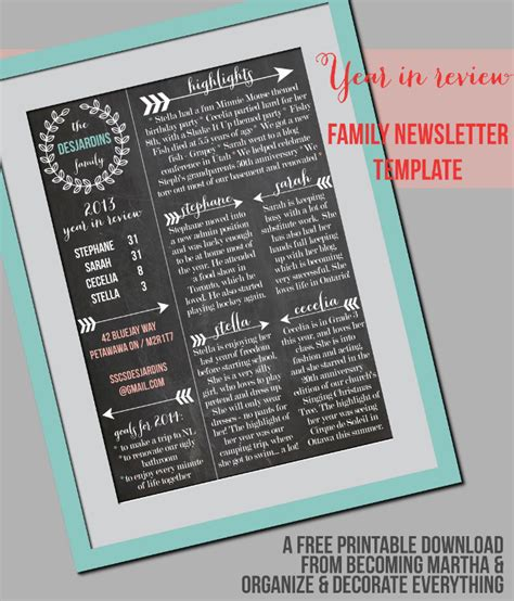 family newsletter template printable contributor