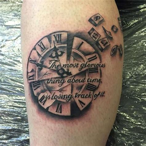 broken clock tattoo broken clock design its my