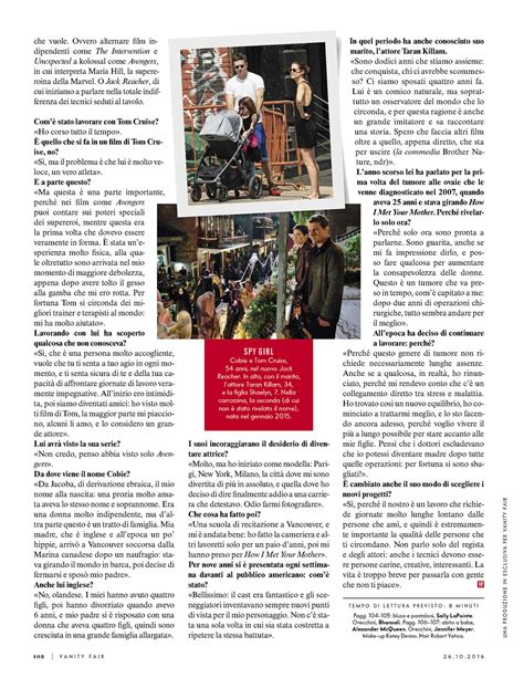 Vanity Fair Magazine New York Address Cobie Smulders Vanity Fair Italy 2016 05 Gotceleb