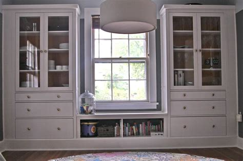 ikea built ins window seat from ikea cabinets woodworking projects plans
