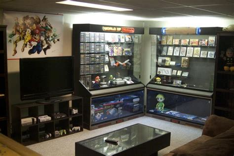 video game storage ideas nintendo setup and display cases vintage nintendo dreams