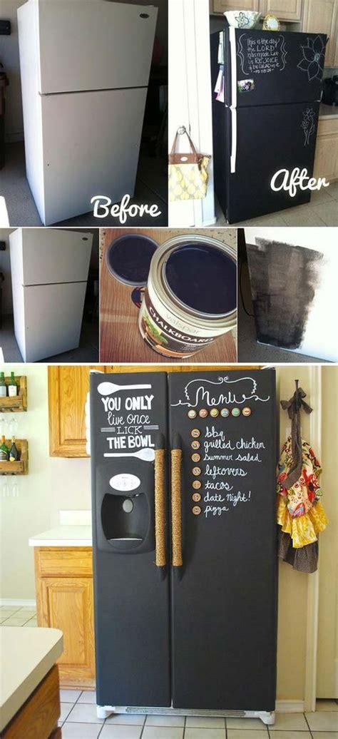 chalk paint jak zrobić best 25 chalkboard paint refrigerator ideas on