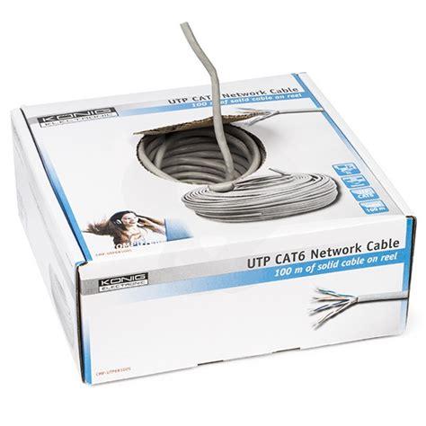 Kabel Utp Cat 6 By Spinet cat6 utp stugge netwerkkabel op rol kopen kabelshop nl