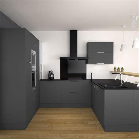 d馗o cuisine grise cuisine cuisine grise et plan de travail noir meilleure