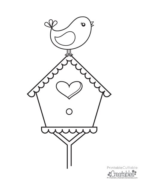 coloring pages bird houses bird perched on birdhouse free printable coloring page