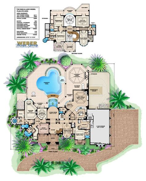 mediterranean mansion floor plans mediterranean house plan 2 waterfront mansion floor