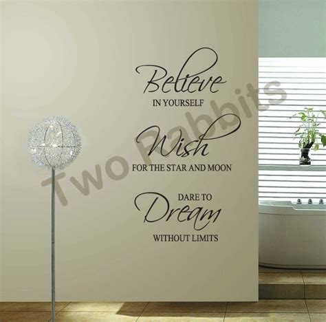 Word Art Home Decor by 60 117cm Believe Wish Dream Word Quote Removable Wall