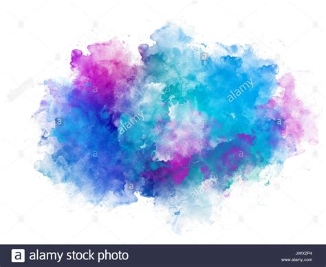water color splash artistic blue and pink watercolor splash effect template
