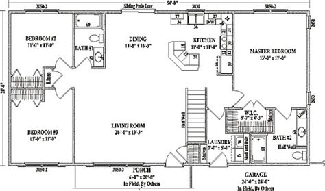ranch house plans open floor plan mankato ii by wardcraft homes ranch floorplan