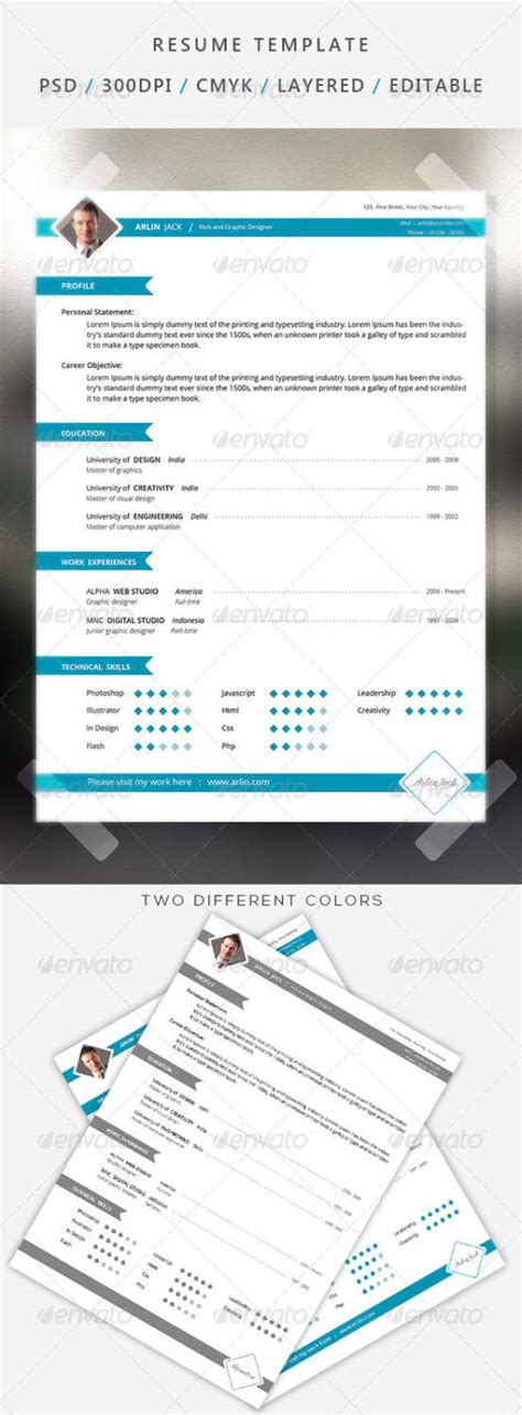 Simplus 1 Or 2 Simple And Clean Resume 7238629 by 155 Premium Cv Resume Templates In Indd Eps Psd Xdesigns