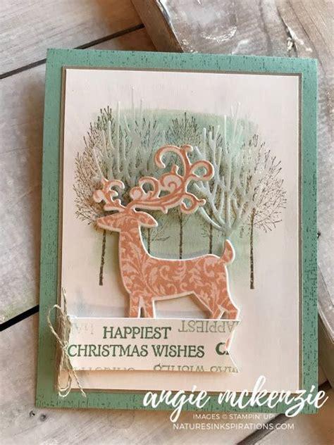 stampin dreams blog hop august  dashing deer winter woods  stampin   deer