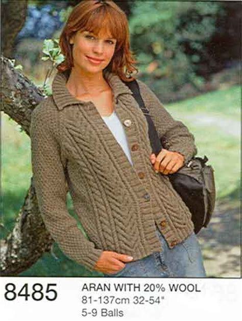 free knitting patterns for aran wool aran wool knitting patterns hats sweater jacket