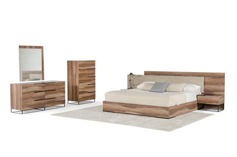 contemporary walnut bedroom furniture nova domus matteo italian modern walnut fabric bedroom set