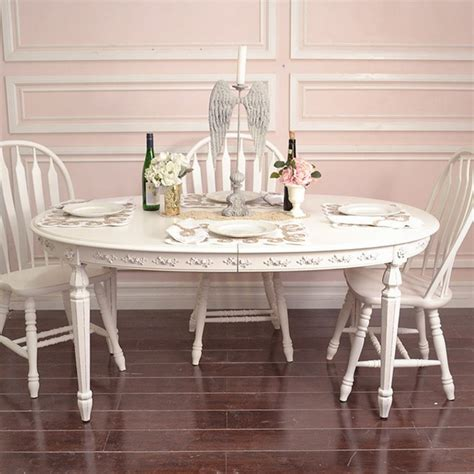 shabby elegant oval dining table mediterranean dining