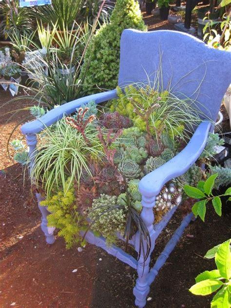 cool chair planter ideas  home  garden balcony