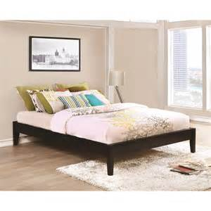 Platform Bed Value City Coaster Hounslow Platform Bed In Cappuccino Finish