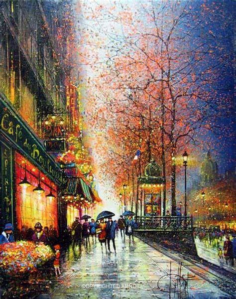 imagenes de paisajes impresionistas im 225 genes arte pinturas paisajes de ciudades parisinas