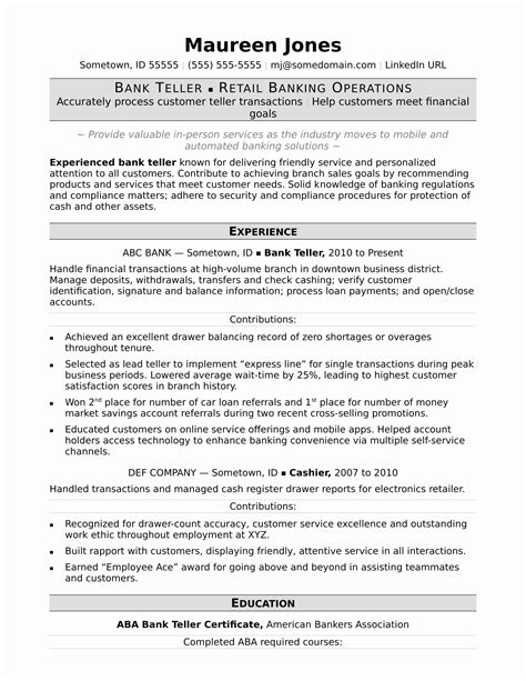 resume format for banking professional resume format for banking professional fresh retail banker