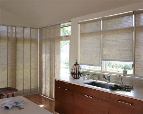 Designer Kitchen Blinds Roller And Screen Shades Contemporary Kitchen Miami By Fantastic Windows
