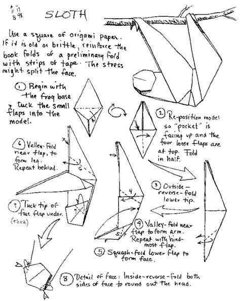 origami sloth barbour origami