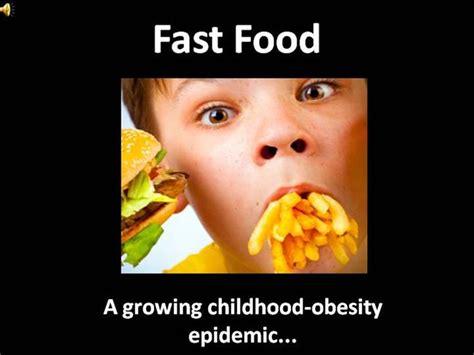 Fast Food Authorstream Fast Food Ppt Slides