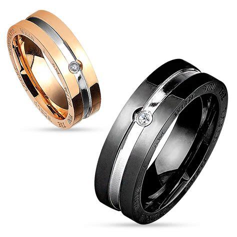 Herren Verlobungsring by Partnerring Verlobungsring Herren Ring Damenring Edelstahl