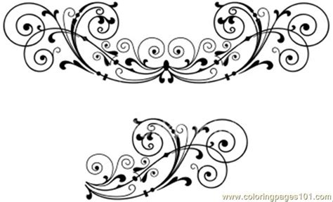 Decoration De Page by Hoto Scroll Decoration Coloring Page Free Decorations