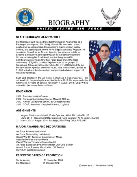 air bio template 19 images of army bio template free gieday