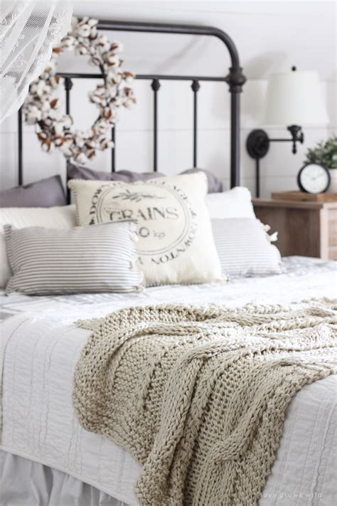 Bedrooms With White Comforters - fall bedroom fall into home tour love grows wild