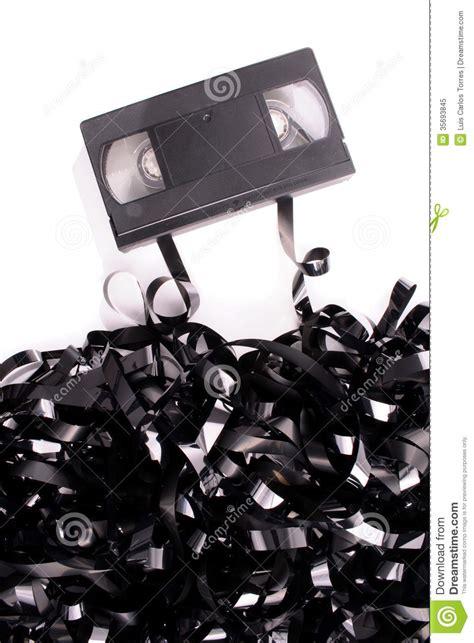 broken video tape royalty  stock photo image