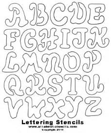 2 alphabet stencils free printable