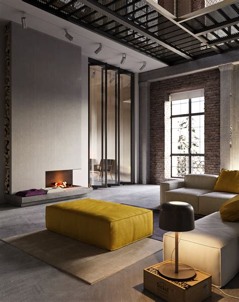 industrial style industrial style apartment in kiev design