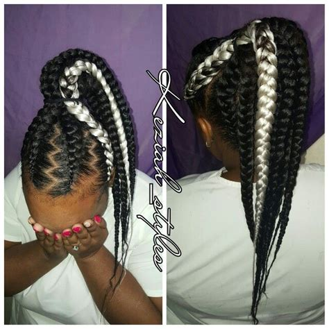 african braids in a ponytail with the saga least with that then 11 best keziah styles images on pinterest natural hair