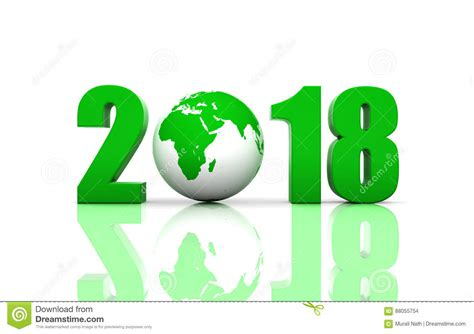 new year earth 2018 new year 2018 with globe stock illustration image of