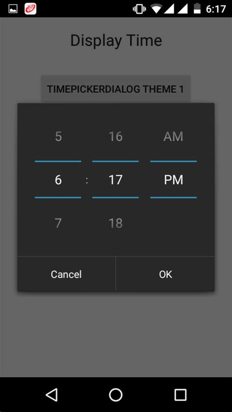 changing themes on android change timepickerdialog theme in android programmatically