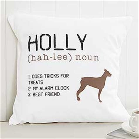 dogged meaning personalized pillow 14 quot definition of my pet gifts