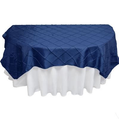 light blue pintuck tablecloth navy blue square pintuck chameleon table cloth overlay