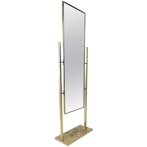 unique vintage brass finish dressing mirror at 1stdibs