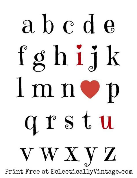 valentines free printable alphabet letters 2947 best images about letters on pinterest fonts